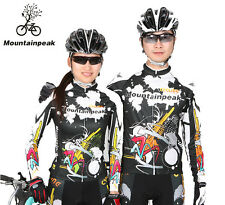 Unisex Cycling Jersey Bike Long Sleeve Tops Shirt Clothing Bicycle Sportwear New
