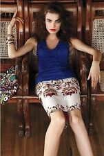Anthropologie Corey Lynn Calter Majestic Medallions Skirt Embroidered 0 2 4 10