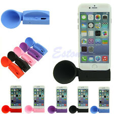 Silicone Horn Stand Speaker Loudspeaker Amplifier For Apple iPhone 6 5 5S 4 4S