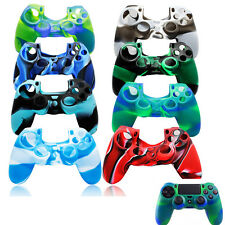 Camouflage Silicone Rubber Skin Grip Cover Case for PlayStation 4 PS4 Controller