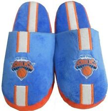 New York Knicks Embroided Logo Slippers Blue Adult Sizes