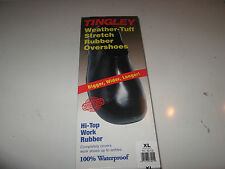 Tingley Men's 1300 Black Waterproof Rubber Work Overshoe XL New in box!!