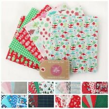 CHRISTMAS FAT QUARTERS QUILTING PATCHWORK CRAFT DECORATIVE FABRIC