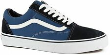 Vans Classic Old Skool Navy Blue White Mens Womens Shoes Size 4.5-13