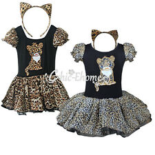 Halloween Xmas Fancy Party Cosplay Costume Girls Baby Dance Tutu Leopard Dress