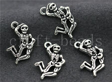 Lot 10/40/200pcs Antique Silver Beautiful Skeleton Charms Pendant DIY 20x13mm