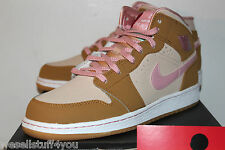 Air Jordan Retro 1 I AJ1 Lola Bunny Hare Beige Tan Pink Girl's Size 7 New
