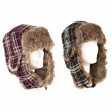 Mens Ladies Trapper Aviator Russian Ushanka Winter Hat with Ear Flap New