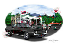 1969 Camaro SS 396 Garage Muscle Car Art Print - Black