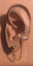 EAR IVY CHAIN CUFF HANDMADE 14K GOLD-FILLED WIRE WRAPPED FREE PAIR OF EARRINGS