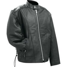 Rocky Mountain Hides™ Solid Genuine Buffalo Leather Motorcycle Cruiser Jacket