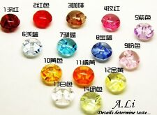 20pcs  Craft Acrylic Buttons Sewing Mushroom Domed Round Buttons 12mm