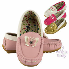NEW Girls Loafers Boat Shoes Flat Slip on Casual Oxford Deck Pumps Kids Size
