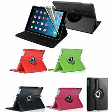 ROTATING 360 DEGREE LEATHER CASE COVER STAND FOR APPLE iPAD 6 iPAD AIR 2 2014