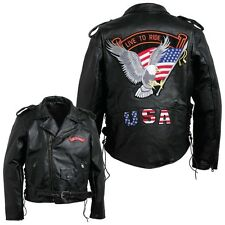 Diamond Plate™ Men's Hand-Sewn Pebble Grain Genuine Buffalo Leather Jacket