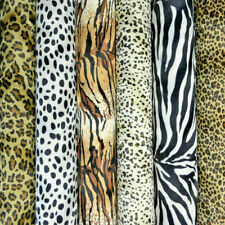 ANIMAL PRINT VELBOA FAUX FUR VELOUR FABRIC MATERIAL - SOLD BY MT *FREE DELIVERY*
