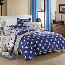 Star Colorful Single Double Queen King Size Bed Set Pillowcase Quilt Duvet Cover