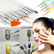 20Pcs Design DIY Acrylic Painting Tool UV Gel Pen Polish Nail Art Brush Set Kit