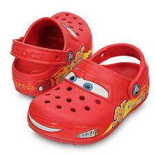 Brand New CROCS Toddler Kid Boys Light Up Lightning Mcqueen Crocs Shoes C11 C13