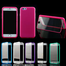 """For iPhone 6 6s 4.7"""" Shockproof Hybrid Rubber Flip Case Cover & Screen Protector"""