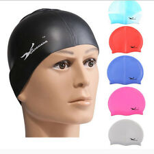 Fashion Durable Flexible Sporty Latex Swimming Swim Cap Bathing Hat Unise Colors