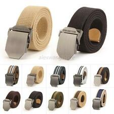 Useful New Men's Casual Buckle Waistband Handmade Military Canvas Leather Belt