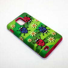 Flower Ladybugs Hybrid ShockProof Phone Cover Case For Samsung Infuse 4G I997