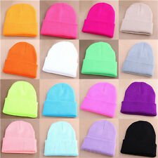 Men Women Unisex Beanie Knit Ski Cap Hip-Hop Blank Winter Warmer Wool Hat 2