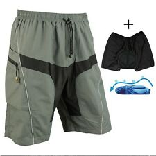 Men's Loose Bike Bicycle Shorts Detachable Padded MTB Cycling Pants M-3XL