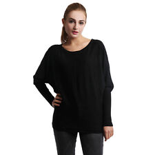 Women Long Sleeve Knitted Sweater Oversized Tops Pullover Loose Knitwear Jumpers