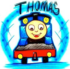 """Thomas And Friends, """"Thomas The Train"""" Airbrushed T-Shirt! Every Size Available!"""
