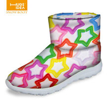 Ladies Waterproof Ankle Flat Snow Boots Womens Girls Winter Warm Fashion Boots
