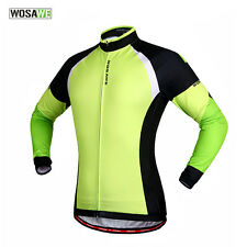 New Casual Mens Road Bike Team Cycling Long Sleeve Top Jersey Bicycle Jacket