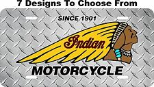 Indian Motorcycle License Plate Auto Car Tag Metal Aluminum LPCY01