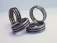 Wolverine Triple Wrap split rings Stainless Steel Pack of 100 pieces Made in USA