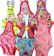 Dog Diaper Sanitary Pant Reusable Washable Stay On With Suspenders For SMALL Pet