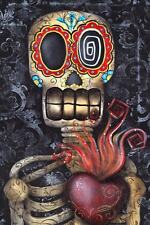 My Sacred Heart Fine Art Print by Abril Andrade Sugar Skull Day of the Dead