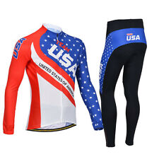 Men Long Sleeve Bicycle Wear Cycling Jersey Outdoor Padded Pants Biking Clothing