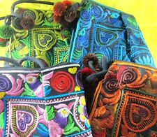 NEW! BAG SILK THAI HMONG HILL TRIBAL EMBROIDERED HANDMADE PURSE BAG BOHO HIPPIE
