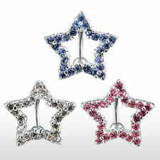 "Belly button piercing ""Star Line"" 3 Colors or Set NEW PIERCINGS from ALLFORYOU"