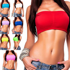 Ladies Bustier Tube Top Bandeau Top Soft bra Strapless Push Up Tank Top sexy