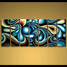 extra large wall art colorful abstract oil painting on canvas modern framed