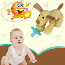 New Infant Baby Boy Girl Silicone Pacifiers Cuddly Plush Animal Baby Nipples