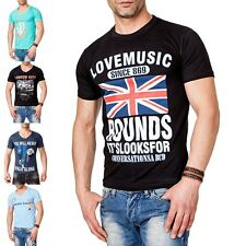 men mens T-Shirt tee shirt motive short sleeve suits t-shirt Basic print new