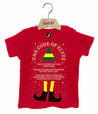 UNOFFICIAL CODE OF ELVES CHRISTMAS BUDDY THE ELF XMAS POPPER NECK BABY T-SHIRT