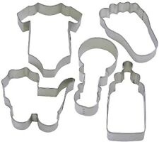 5 Pc Baby Jumpsuit Foot Bottle Rattle Cookie Cutter Set NEW! Shower Party