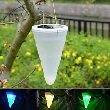 LIXADA Cone LED Solar Powered Hanging Light with Light Senser for Pathway DY84