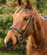 Matte Black Cavesson Bridle Hunter Hacking Competition Horse Pony Cob Full