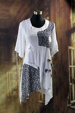 New Ladies Tunic Top White Navy Quelque Clothing Size 10 12 14 16 18 20