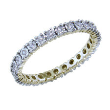 Beautiful Round Natural Diamond Full Eternity Ring Crafted in 10k Yellow Gold